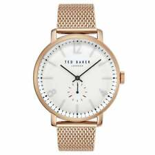 New!Ted Baker Gents Oliver Rose Gold Stainless Steel Strap TE50015010 Mens Watch