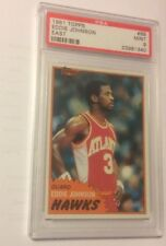 1981 Topps Basketball East #68   Eddie Johnson   Psa 9 Mint   Hawks  NBA