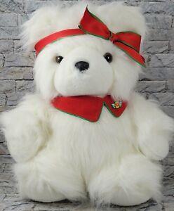 DAYTON HUDSON Miss SantaBear Stuffed Animal Vintage 1987 Cute YANG JEE PLUSH TOY