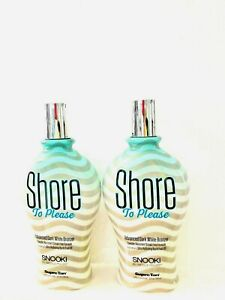 2 Snooki Shore To Please Dark White Bronzer Tanning Lotion 12 oz