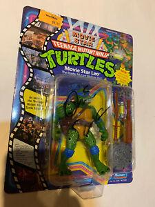 TMNT TEENAGE MUTANT NINJA TURTLES FIGURE MOVIE STAR FIGURE leonardo signed! 1991