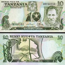 Tanzania 10 Shilling, 1978, UNC, 5 Pcs LOT, Consecutive, P-6c, Sign 3