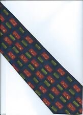 Hand Made Silk Tie by CEZAN  Italy - Navy Multi Color - Excellent condition