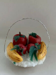 Hand Made Colour Full Candle Fruit Basket