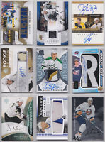 NHL Game Used Patch Jersey Numbered Auto Rare Rookie RC - U Pick From List
