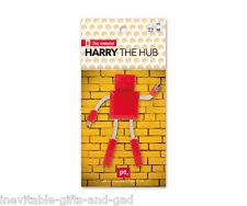 Harry el robot USB HUB Gadget Regalo Rojo