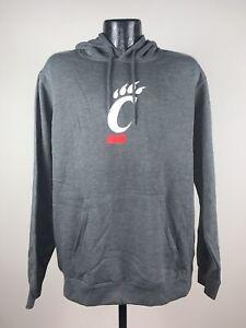 Men's Majestic Cincinnati Bearcats Gray Big Win Pullover Fleece Hoodie NWT 2XL