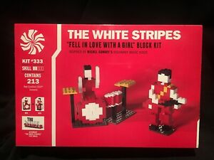 "The White Stripes ""Fell In Love With A Girl"" Block Kit Lego Jack White TMR"