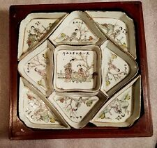 Qing CHINESE PORCELAIN gift box set in shape of Bagua/used on Chinese New Years