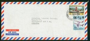 MayfairStamps Solomon Islands to Southampton England Air Mail 1969 Cover wwp6233