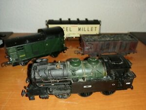 LOT JOUEF LOCOMOTIVE 30 135 WAGON MILLET PIKO HORNBY  SNCF TRAIN HO