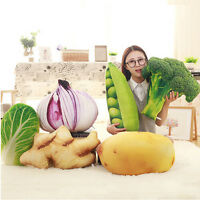 Vegetable Plush Stuffed Fruit Sofa Pillow Cushion Soft Creative Toy Doll Gifts @