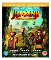 JUMANJI [Blu-ray 3D + 2D] (2017) Dwayne Johnson Movie UK Exclusive 3D Release
