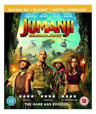 JUMANJI [Blu-ray 3D + 2D] (2017) Dwayne Johnson Movie UK Exclusive 3D Release