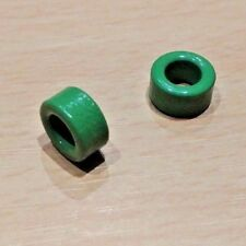 2 PACK - Amico Inductor Coil Green Toroid Ferrite Cores (10 x 6 x 5mm)
