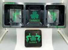 Guiness Beer 3 Section Divided Tray and Coaster Set - New in Box