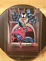 Spider-Man vs Venom 1992 Skybox Marvel Masterpieces Battle Spectra 4-D Holo Card