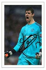 THIBAUT COURTOIS CHELSEA SIGNED AUTOGRAPH PHOTO PRINT  SOCCER