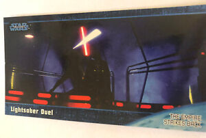 Empire Strikes Back Widevision Trading Card 1997 #46 Lightsaber Duel Skywalker