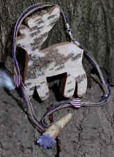 ♛ Sisal - Bast Trachtenband mit echtem Krickerl Halsschmuck zum Dirndel ♛