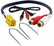 Fiat Grande Punto de Entrada Aux 3.5 mm Jack Cable de plomo coche IPOD ADAPTER ct29ft01 Llaves