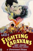 Fighting caravans Gary Cooper vintage movie poster #2