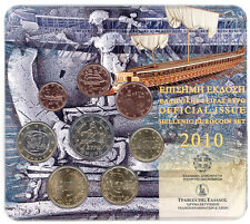 Greece Blister official issue 2010 ATHENIAN TRIREME  BU set