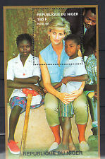 Niger 1997 Diana Princess of Wales with Landmine Victims in Angola  MNH S/S