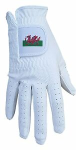 ACCLAIM Bowls Glove Wales Welsh Dragon All Weather Ladies White Synthetic