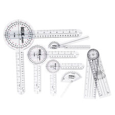 6pcs Medical Spinal Ruler Goniometer Angle Protractor 360 Degree 12/8/6 inch Set