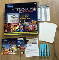 Disney Pictionary DVD Game by Mattel Characters Clips & Animation 2007 Complete