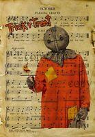Halloween Decor, Trick R Treat Sam Art Print, Horror Movie Poster- No Frame
