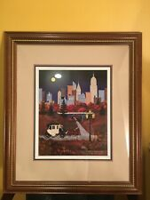 """JANE WOOSTER SCOTT """"AUTUMN IN NEW YORK""""SIGNED AND NUMBERED LITHOGRAPH ."""
