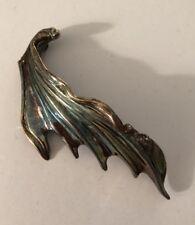 Large Vintage Sterling Silver JEM Designer Brooch/Pendant With Natural Patina
