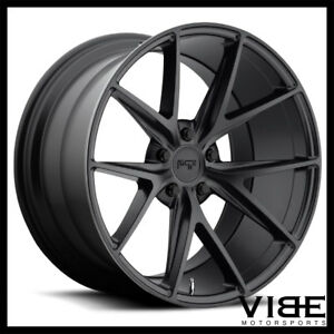 """20"""" NICHE MISANO BLACK CONCAVE WHEELS RIMS FITS FORD MUSTANG SHELBY GT GT500"""