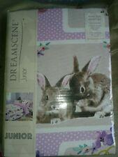 KING duvet set  'pet love' pets rabbit cat dog (pug?)  Reversible BNWT