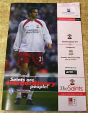 Southampton Teams S-Z Football Programmes with Match Ticket