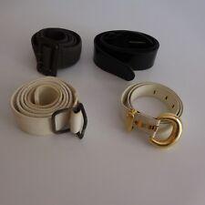 4 ceintures femme blanc gris noir modèles vintage art déco XXe PN France