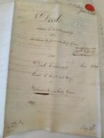1833 Philadelphia Vellum Land Deed ISAAC LOYD to WILLIAM & EALY GREEN Wax Seals