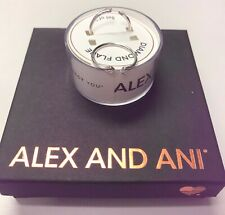 Authentic Alex and Ani Diamond Flare .925 Sterling Silver Wrap Ring Set of 2