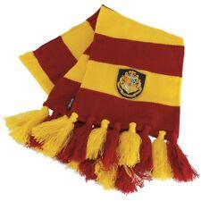 HARRY POTTER Hogwarts Hogwart's Knit SCARF w/ CREST Emblem Red Yellow