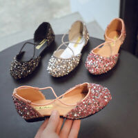 Fashion Baby Princess Shoes Cute Sequin Kids Students School Flats Girls Sandals