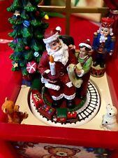Weihnachtszimmer Spieluhr  Santa Weihnachten  LED beleuchtet