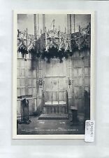 A4041cgt UK Edinburgh St Giles Cathedral Chair of Investiture vintage postcard