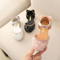 Child Children Girls Sandals Bowknot Crystal Princess Sandals Casual Shoes