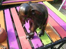Hand carved 24cm Ebony African Elephant