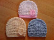 Handmade Hand Crocheted Baby Unisex V-Stitch Beanie Hat various colours Acrylic