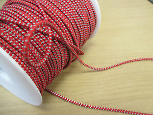 Coloured Elastic Elasticated Shock Cord - 3mm Diameter - Red - Any length