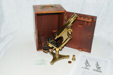 "Antique Microscope R & J Beck ""Economic"" #26B Made 8 Oct 1890 sold by WB+E Phil"