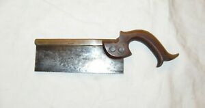 I Sorby 7 Inch dovetail saw small saw unusual handle antique woodworking tool